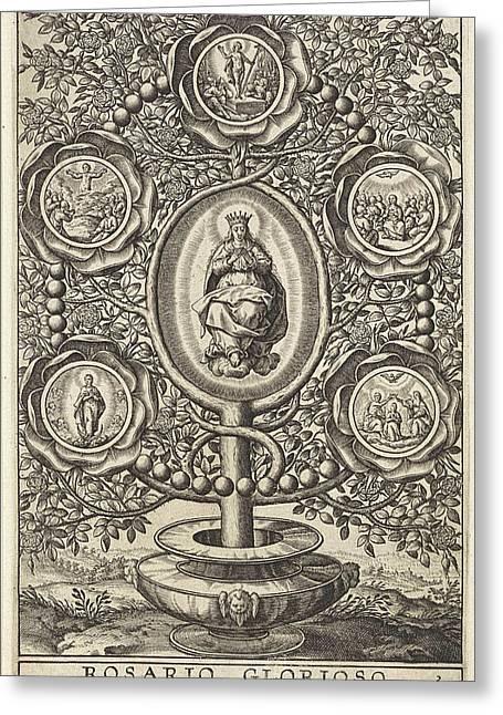 Five Glorious Mysteries, Antonie Wierix II Greeting Card