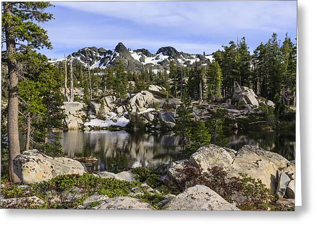 Five Lakes Basin Greeting Card by Karma Boyer