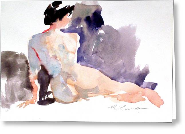 Five Minute Nude Greeting Card by Mark Lunde