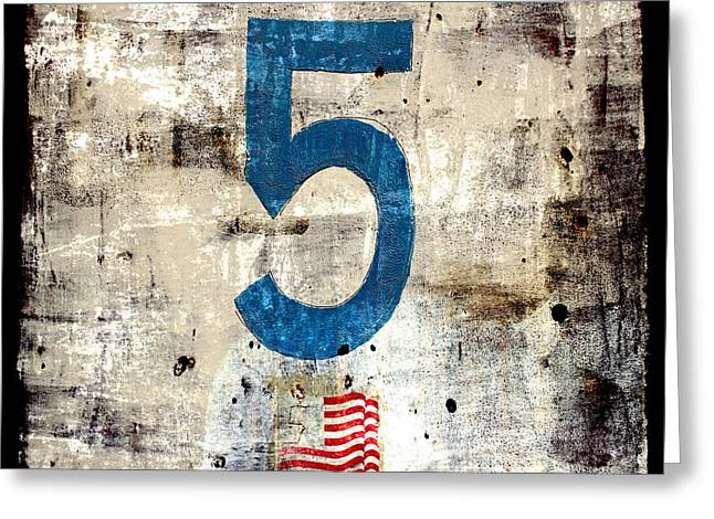 Five On The Flag Greeting Card by Carol Leigh