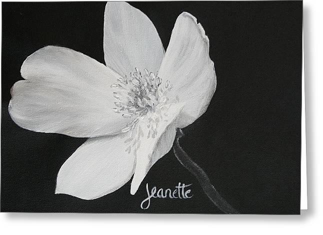 Five Petal Rose Greeting Card