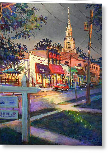 Five Points After Rain Greeting Card