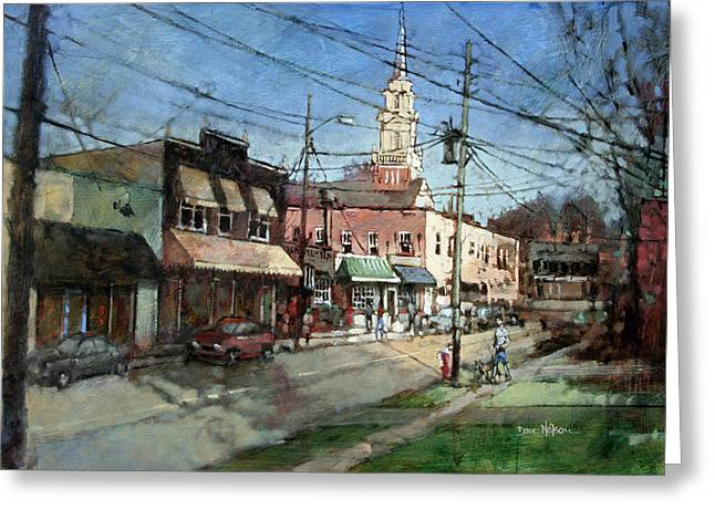 Five Points Evening Greeting Card