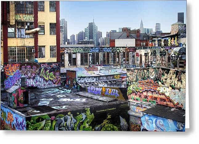 Greeting Card featuring the photograph Five Points Five Pointz by Dave Beckerman