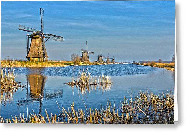 Five Windmills At Kinderdijk Greeting Card