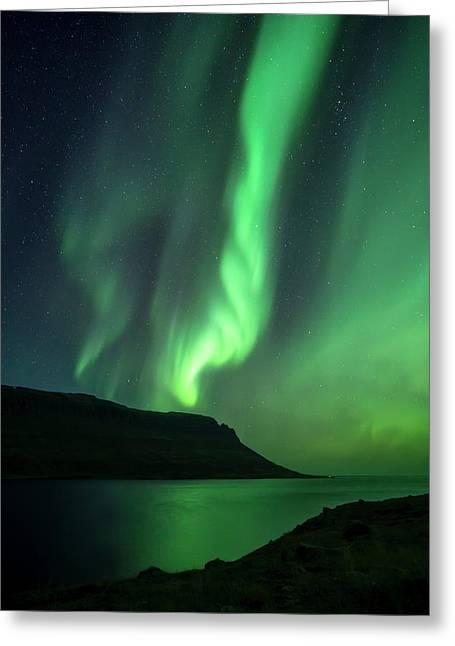 Fjord Night Greeting Card by Karsten Wrobel