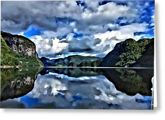 Fjords Of Norway Greeting Card by Florian Rodarte