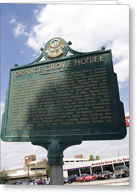 Fl-1021 Orange Grove Hotel Greeting Card