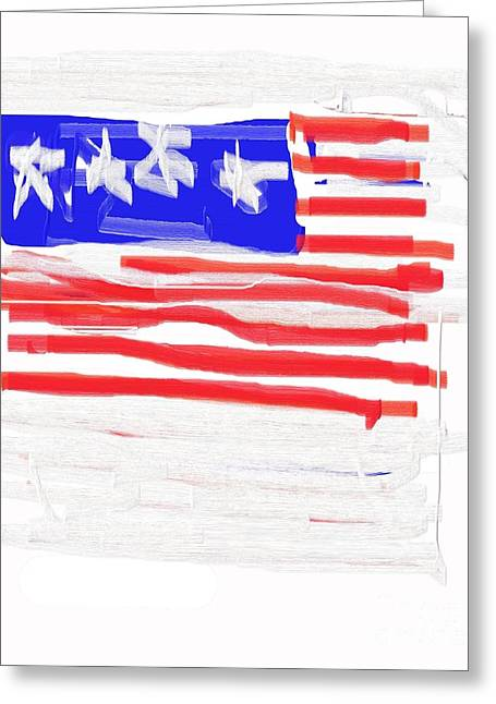 Flag Greeting Card by Jay Manne-Crusoe