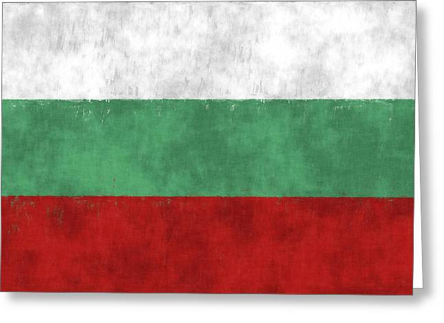 Flag Of Bulgaria Greeting Card by World Art Prints And Designs