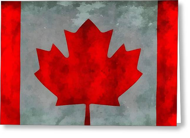 Flag Of Canada Greeting Card by Dan Sproul