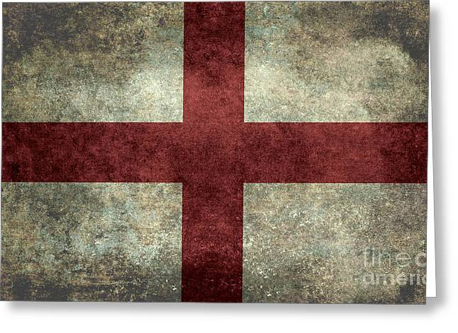 Flag Of England St Georges Cross Vintage Version To Scale Greeting Card
