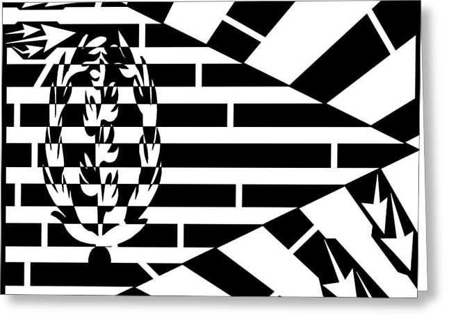 Flag Of Eritrea Maze Greeting Card by Yonatan Frimer Maze Artist
