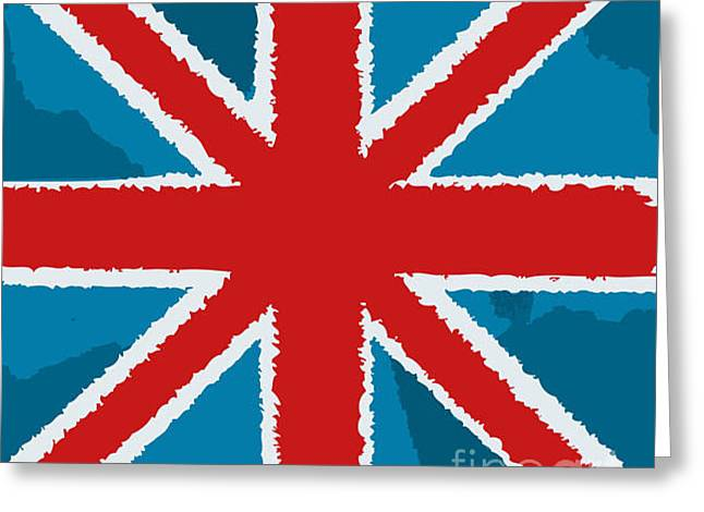 Flag Of Great Britain Greeting Card