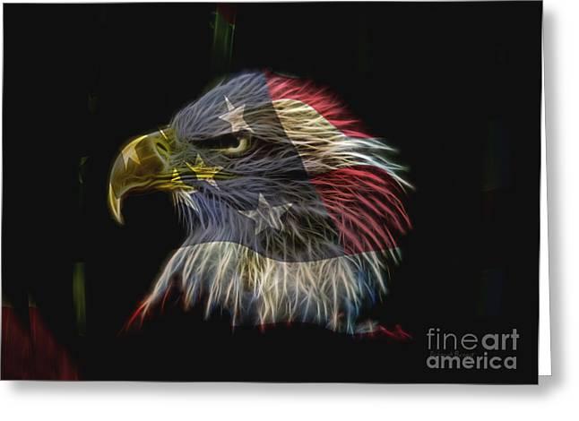 Flag Of Honor Greeting Card by Deborah Benoit