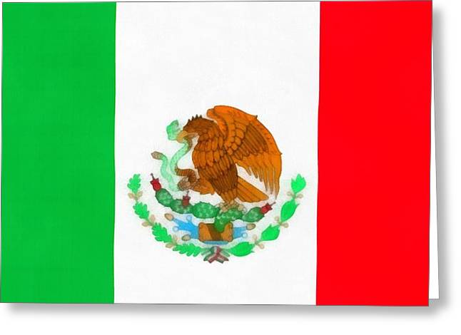 Flag Of Mexico Greeting Card by Dan Sproul
