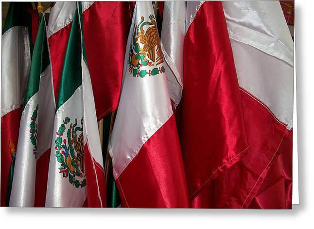 Flags Of Mexico Greeting Card