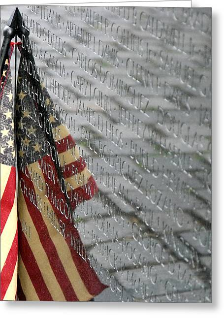Flag On The Wall Greeting Card