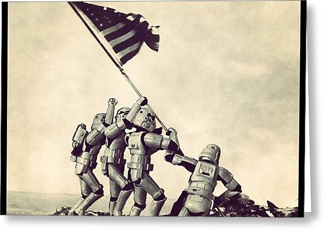 Flag Raising On Iwo Jima - Star Wars Greeting Card