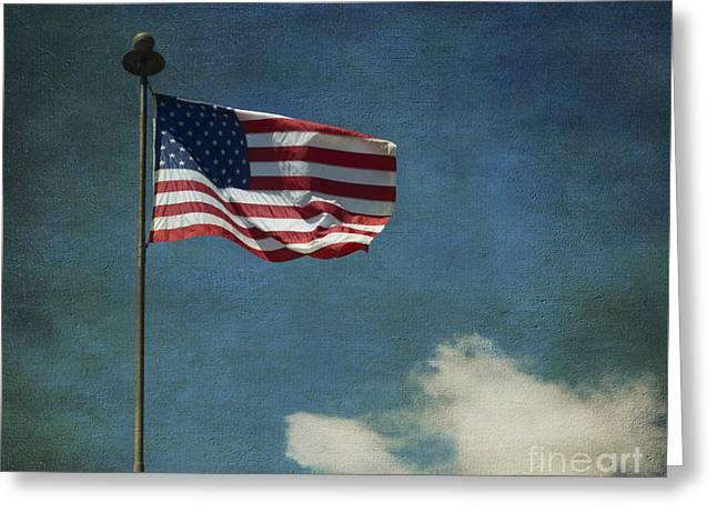 Flag - Still Standing Proud - Luther Fine Art Greeting Card