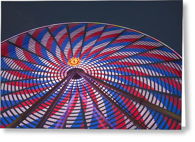 Greeting Card featuring the photograph Flag Wheel by Darleen Stry