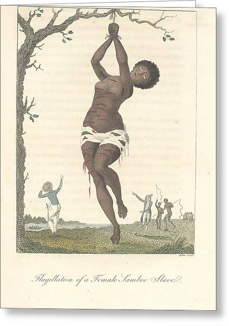 Flagellation Of A Slave Greeting Card by British Library