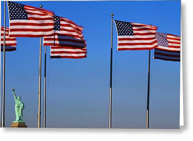 Flags New York Ny Greeting Card