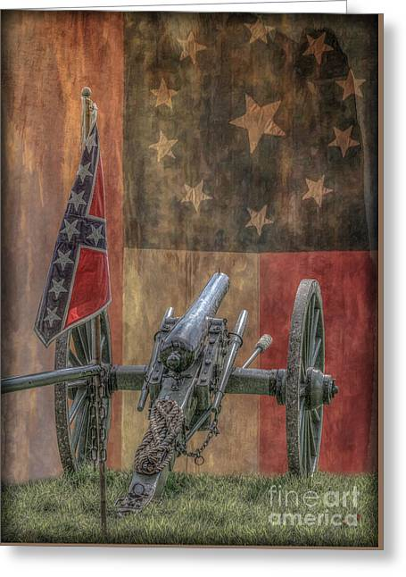 Flags Of The Confederacy Greeting Card