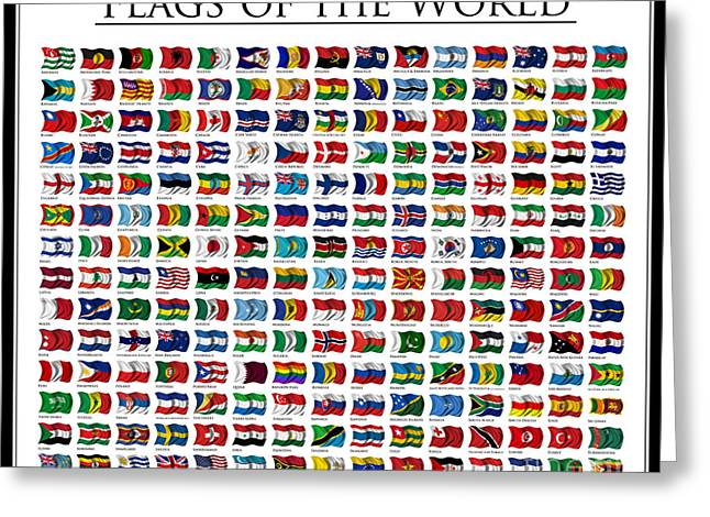 Flags Of The World Greeting Card