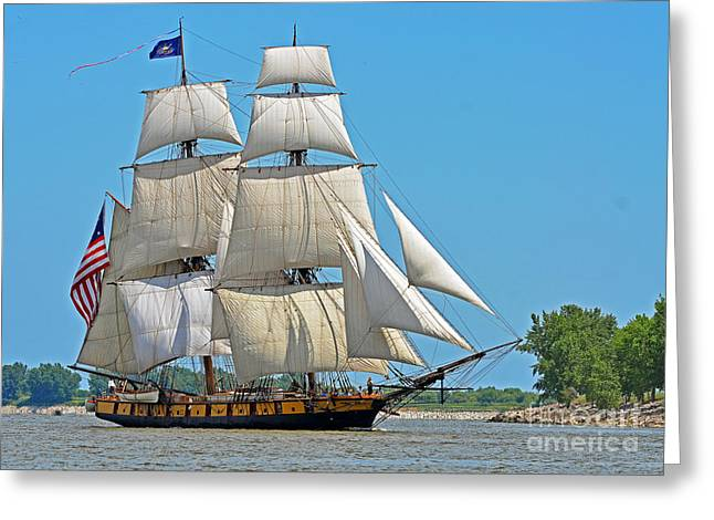 Flagship Niagara Greeting Card by Rodney Campbell