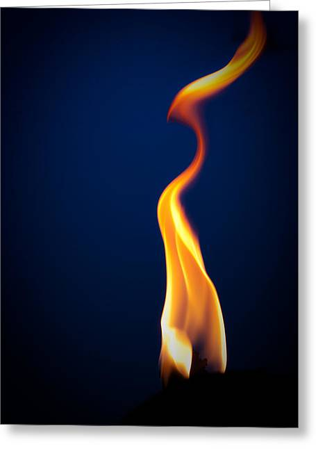 Flame Greeting Card by Darryl Dalton
