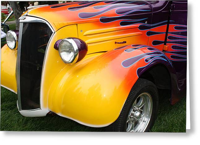 Flame Job Greeting Card by Terry Fleckney