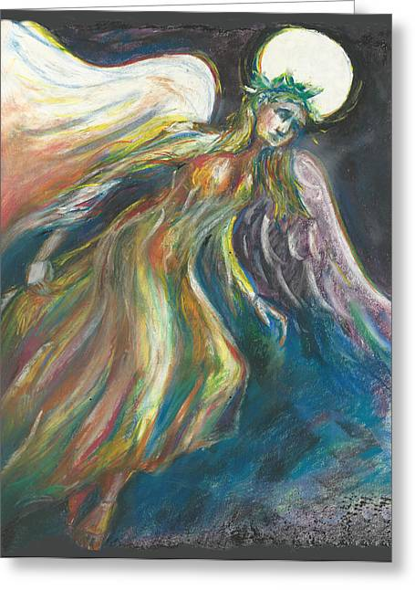 Flame Greeting Card by Melinda Dare Benfield