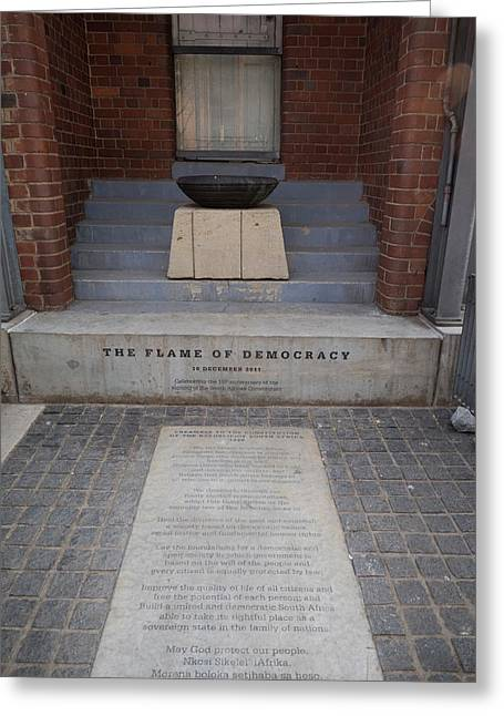 Flame Of Democracy, Constitution Hill Greeting Card