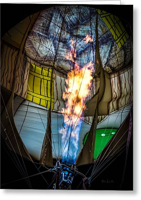 Flame On Greeting Card by Bob Orsillo