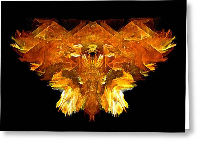 Greeting Card featuring the digital art Flame Rider by R Thomas Brass