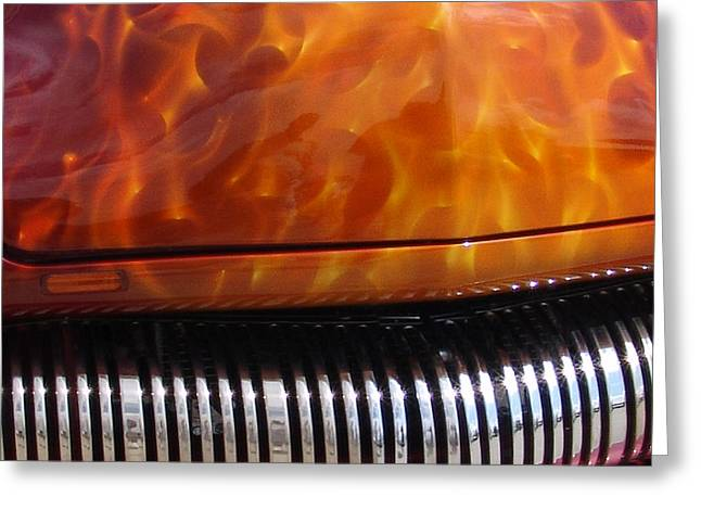 Flame Rod 1 Squared Greeting Card