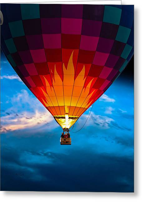 Flame With Flame Greeting Card by Bob Orsillo