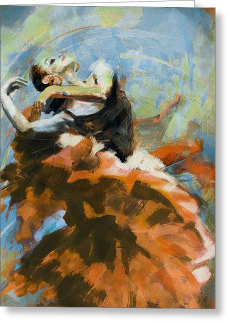 Flamenco 54 Greeting Card by Maryam Mughal
