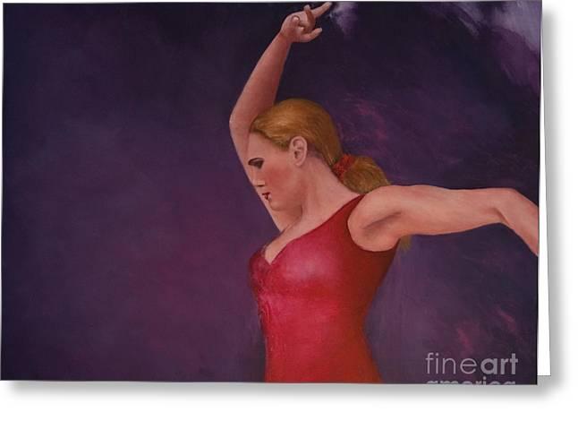 Flamenco 8 Greeting Card by Jos Van de Venne