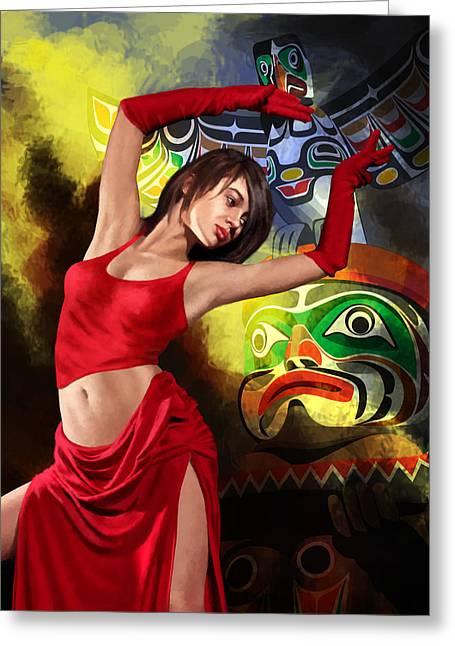 Flamenco Dancer 010 Greeting Card