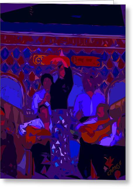 Flamenco Dancer Greeting Card by Edgar Torres