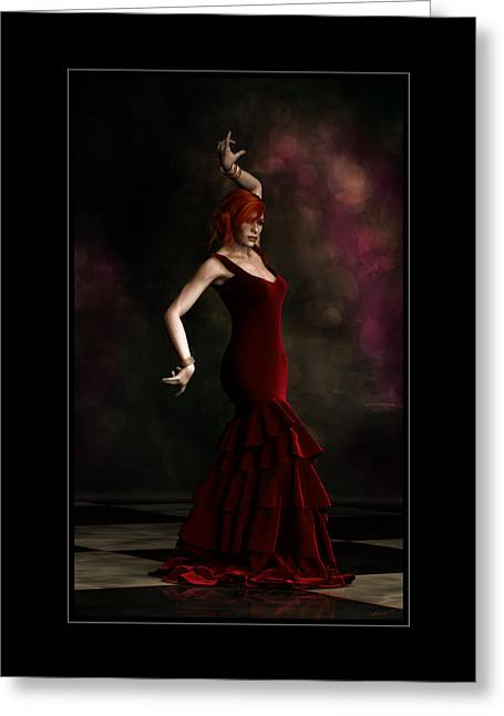 Flamenco Dancer Frame Greeting Card by Shanina Conway