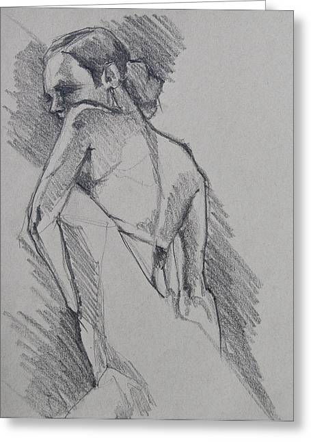 Flamenco Dancer Sketch Greeting Card