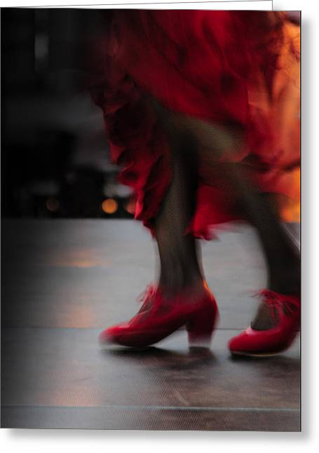 Flamenco Fire Greeting Card by Tetyana Kokhanets