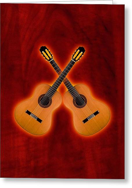 Flamenco  Guitar  Greeting Card by Doron Mafdoos