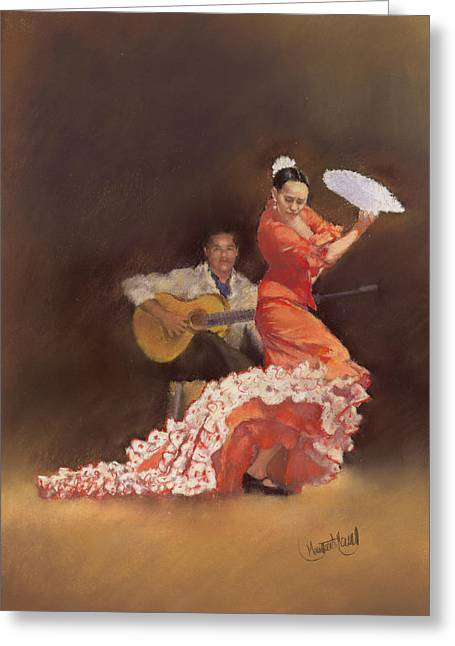 Flamenco Greeting Card by Margaret Merry