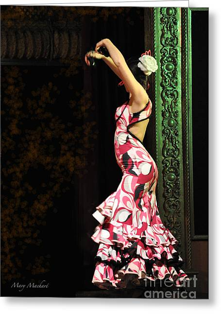 Flamenco Series #8 Greeting Card by Mary Machare