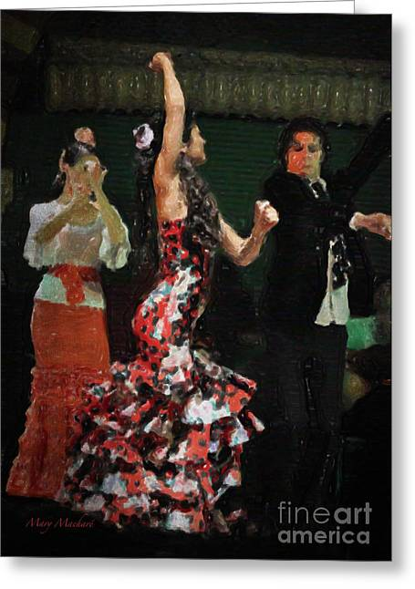 Flamenco Series No 13 Greeting Card by Mary Machare