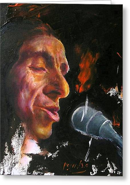Flamenco Singer 1 Greeting Card
